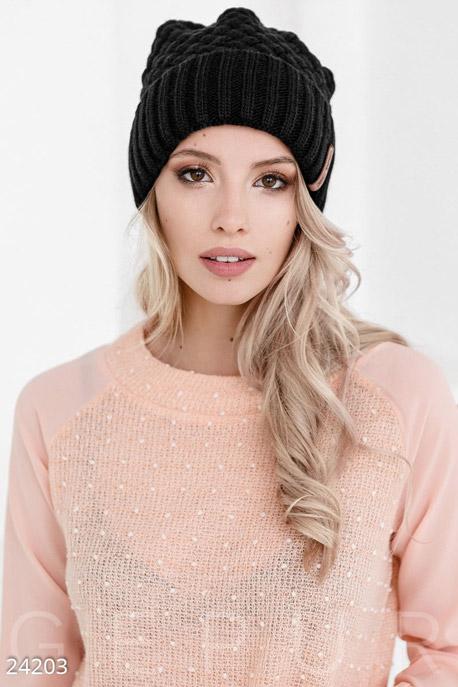 Теплая шапка-бини