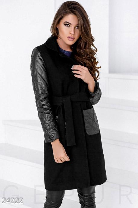Комбинированное демисезонное пальто GEPUR