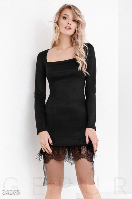 Платья / Мини, Монохромное праздничное платье, Платье-24265, GEPUR, черный  - купить со скидкой