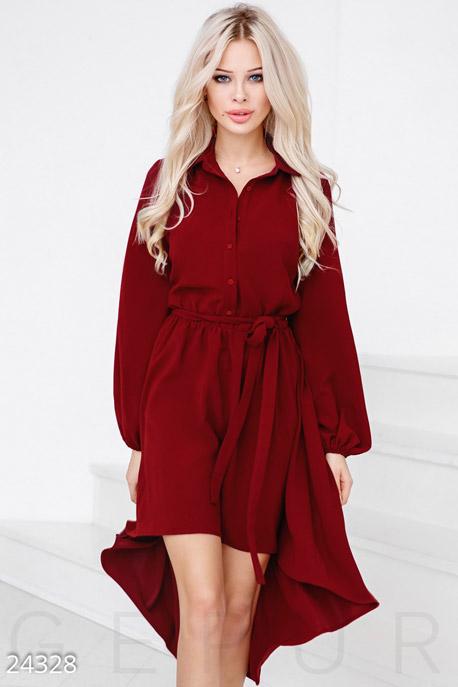Купить Платья / Мини, Праздничное платье-каскад, Платье-24328, GEPUR, красный