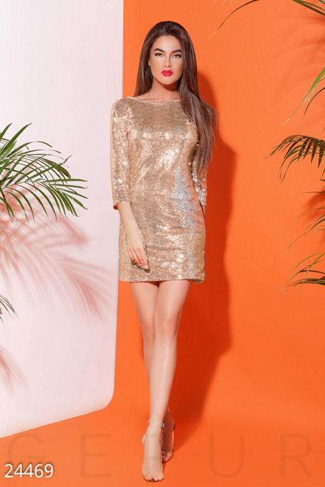 Купить Платья / Мини, Блистательное коктейльное платье, Платье-24469, GEPUR, золотистый