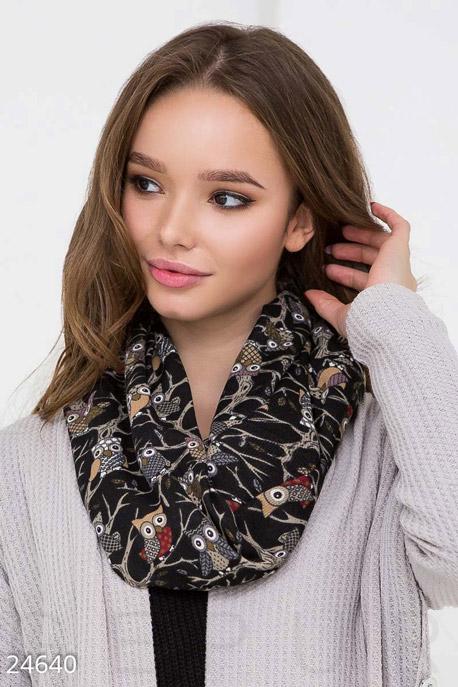 Ангоровый шарф-снуд