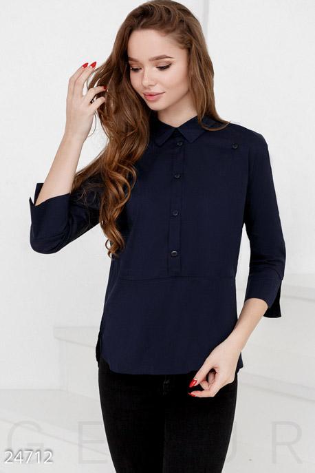 Купить Блузы, рубашки, Аккуратная женская рубашка, Рубашка-24712, GEPUR, темно-синий
