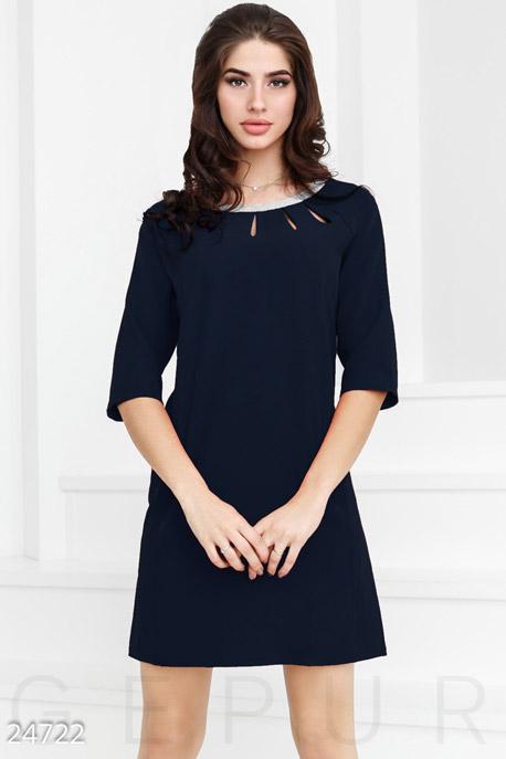 Купить Платья / Мини, Прямое праздничное платье, Платье-24722, GEPUR, темно-синий