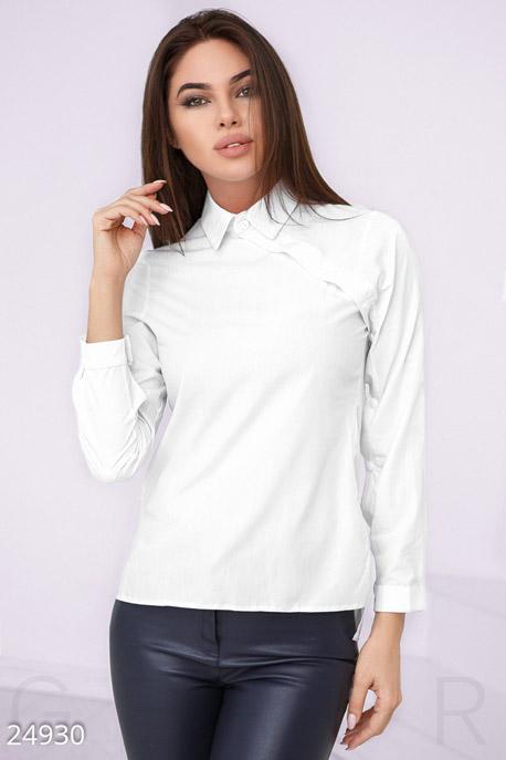 Купить Блузы, рубашки, Лаконичная офисная рубашка, Рубашка-24930, GEPUR, белый