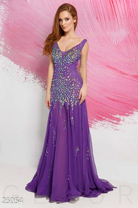 Купить Платья / На выпускной, Изумительное фатиновое платье, Платье-25054, GEPUR, насыщенный фиолетовый