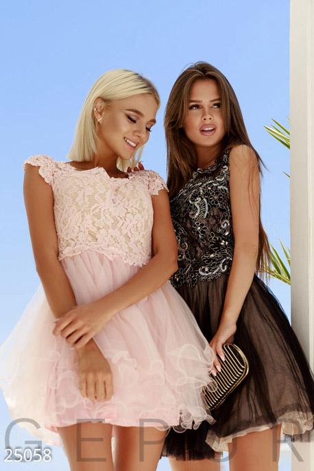 Купить Платья / На выпускной, Нежное платье-пачка, Платье-25058, GEPUR, нежно-розовый