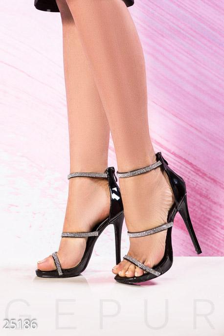 Купить Обувь / Босоножки, Босоножки на шпильке, Босоножки-25186, GEPUR, черный