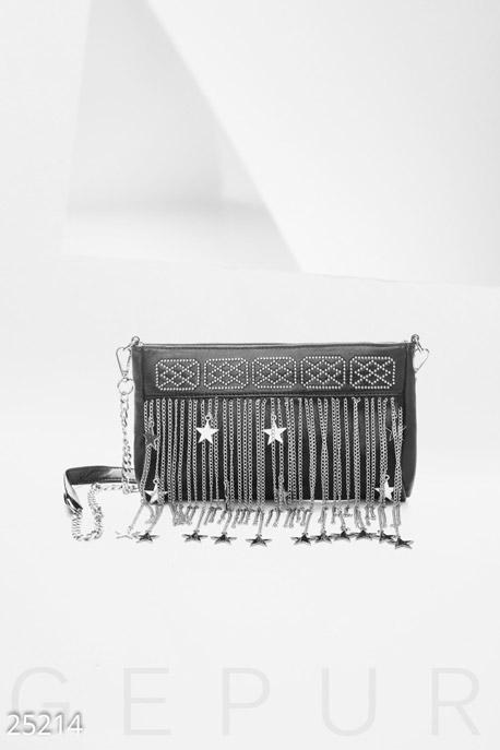 Сумки, клатчи, кошельки / Клатчи, Женский декорированный клатч, Клатч-25214, GEPUR, черный  - купить со скидкой