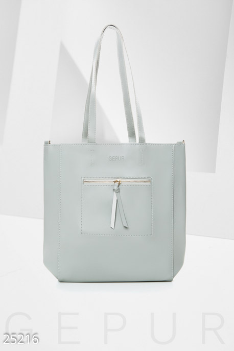 Купить Сумки, клатчи, кошельки / Сумки, Вместительная женская сумка, Сумка-25216, GEPUR, светло-серый