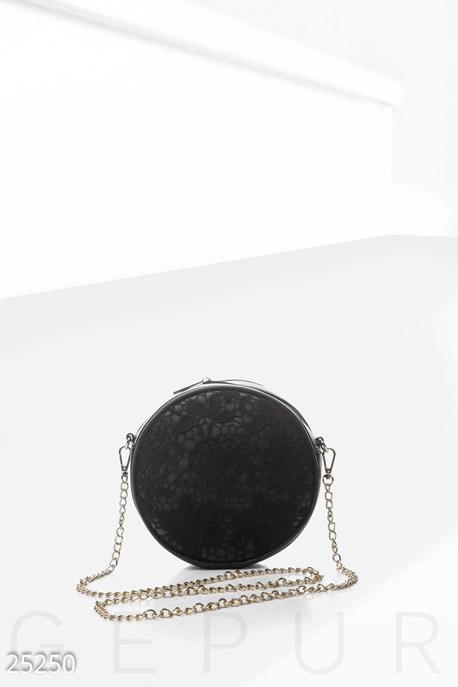 Купить Сумки, клатчи, кошельки / Сумки, Изящная круглая сумочка, Сумка-25250, GEPUR, черный