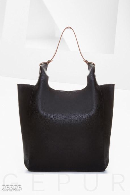Купить Сумки, клатчи, кошельки / Сумки, Вместительная сумка-шоппер, Сумка-25325, GEPUR, черно-коричневый