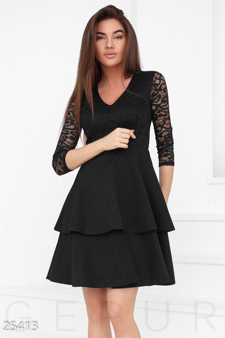 Купить Платья / Миди, Пышное монохромное платье, Платье-25413, GEPUR, черный