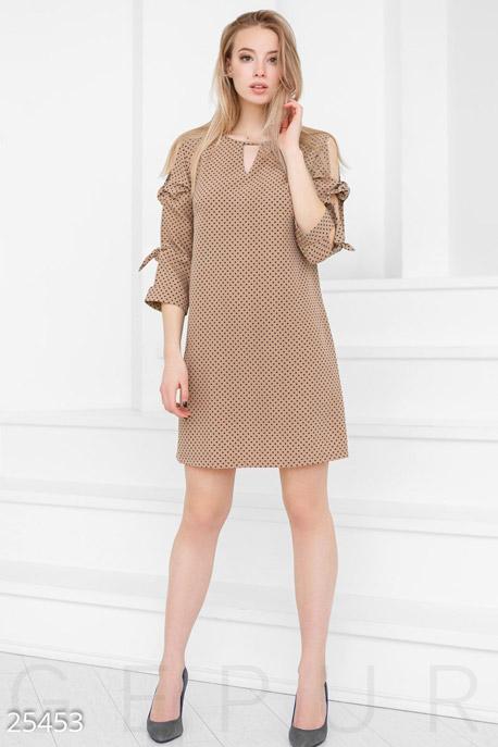 Платье-трапеция горошек