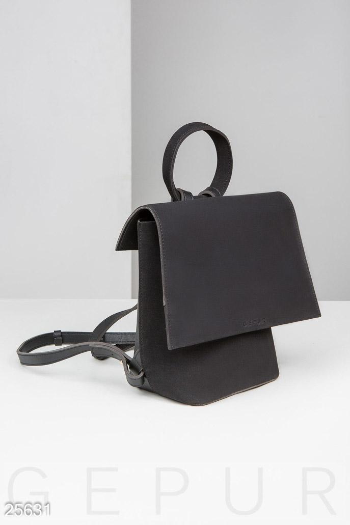 Купить Сумки, клатчи, кошельки / Рюкзаки, Городской рюкзак-сумка, Рюкзак-25631, GEPUR, черный