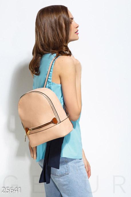 Купить Сумки, клатчи, кошельки / Рюкзаки, Практичный рюкзак mini, Рюкзак-25641, GEPUR, бежевый