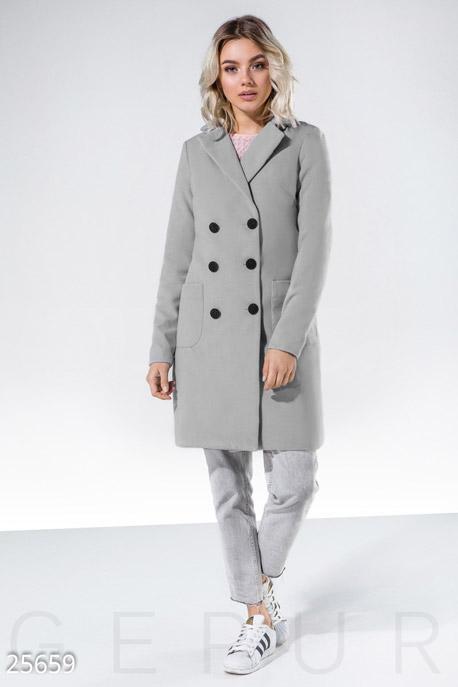 Кашемировое пальто-трапеция GEPUR