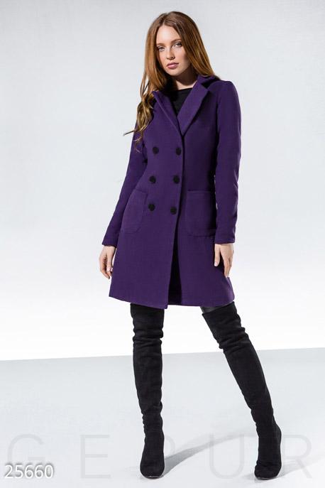Яркое кашемировое пальто GEPUR