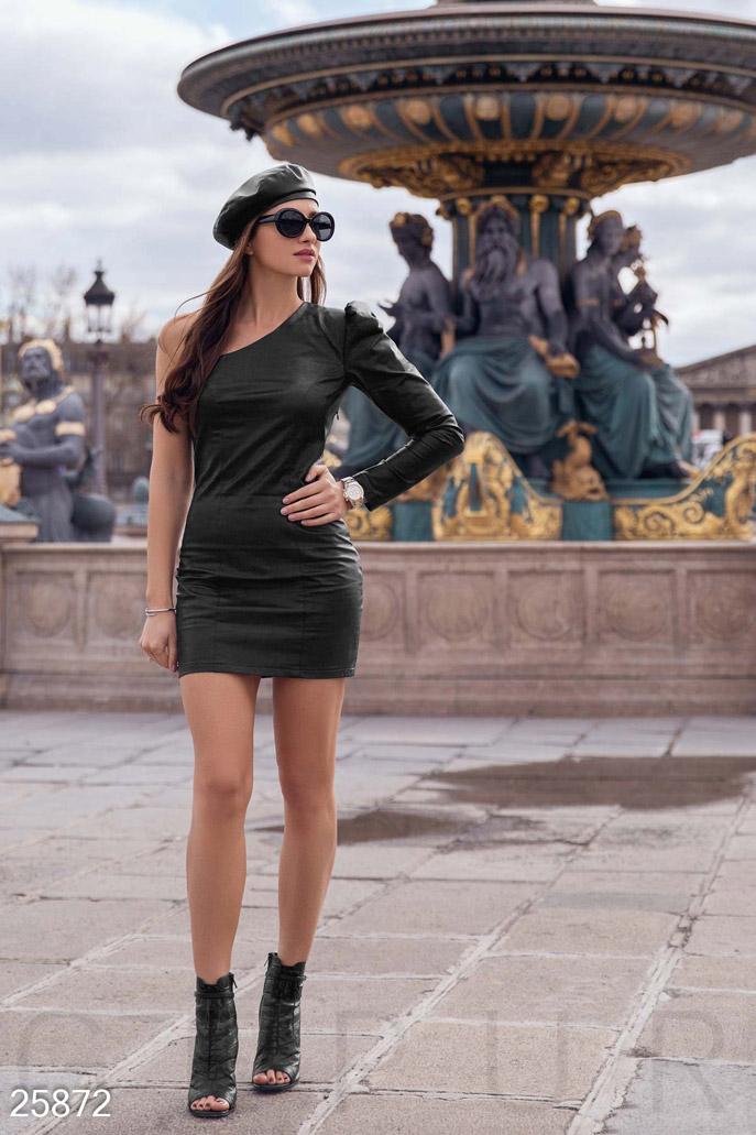 Купить Платья / Мини, Кожаное платье-мини, Платье-25872, GEPUR, черный