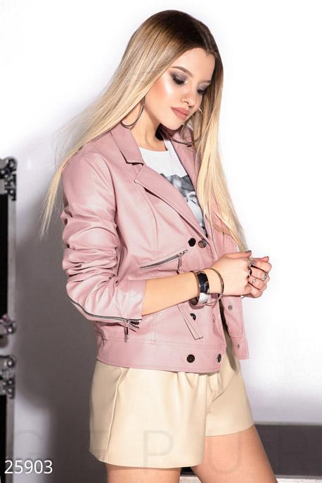 Купить Верхняя одежда / Кожаные куртки, Двубортная куртка-косуха, Куртка-25903, GEPUR, пудрово-розовый