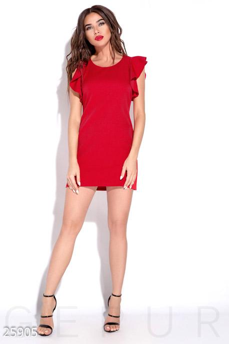 Купить Платья / Мини, Яркое платье-мини, Платье-25905, GEPUR, ярко-красный