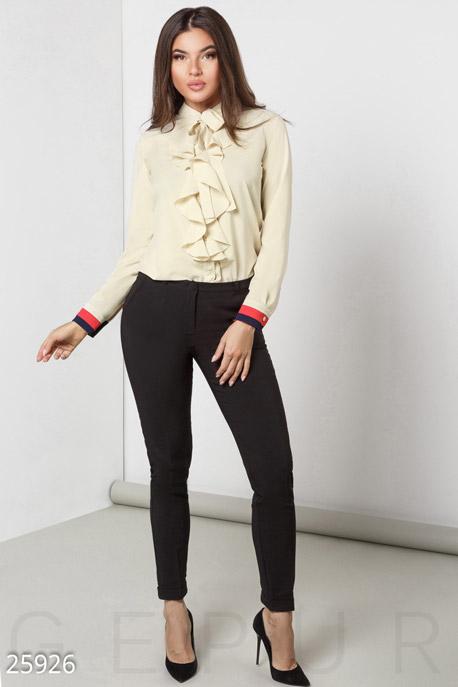 Купить Брюки, леггинсы, шорты / Большие размеры, Классические зауженные брюки, Брюки(батал)-25926, GEPUR, черный