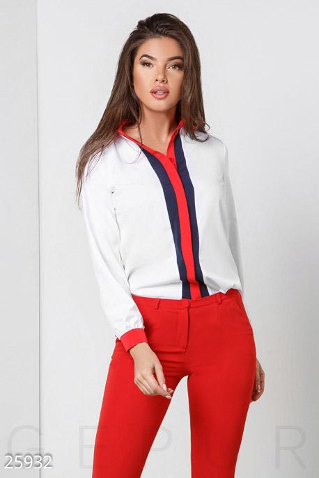 Купить Свитера / Блузы, рубашки, Трехцветная женская блуза, Блуза(батал)-25932, GEPUR, мультиколор