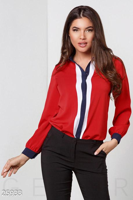 Купить Свитера / Блузы, рубашки, Трехцветная женская блуза, Блуза(батал)-25933, GEPUR, мультиколор