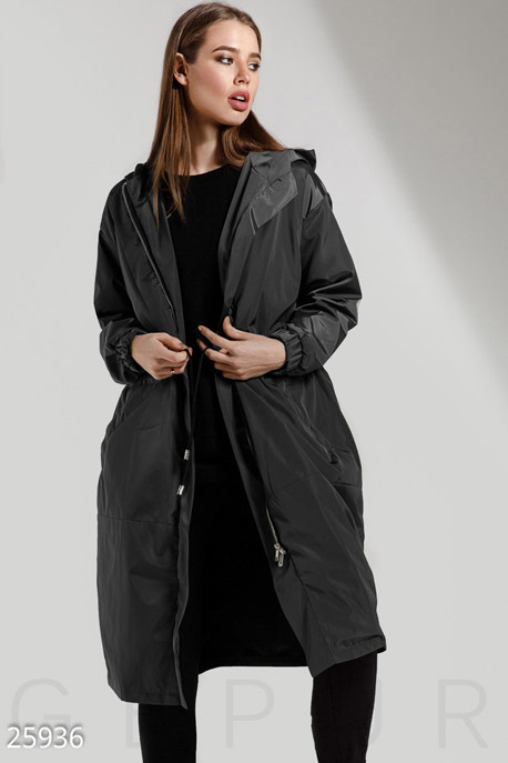 Удлиненная куртка-ветровка GEPUR