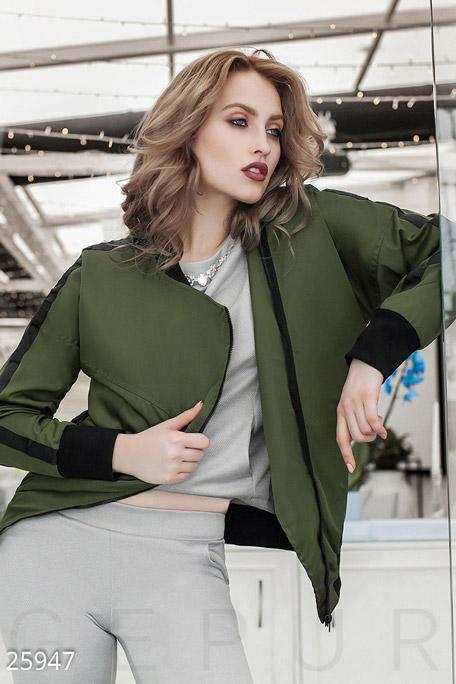 Купить Верхняя одежда / Ветровки, Женская куртка-ветровка, Куртка-25947, GEPUR, темно-зеленый