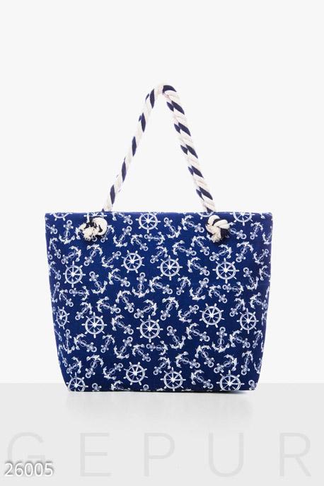 Купить Сумки, клатчи, кошельки / Сумки, Практичная летняя сумка, Сумка-26005, GEPUR, сине-белый