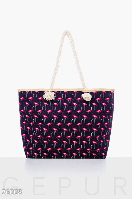 Купить Сумки, клатчи, кошельки / Сумки, Текстильная пляжная сумка, Сумка-26008, GEPUR, сине-розовый
