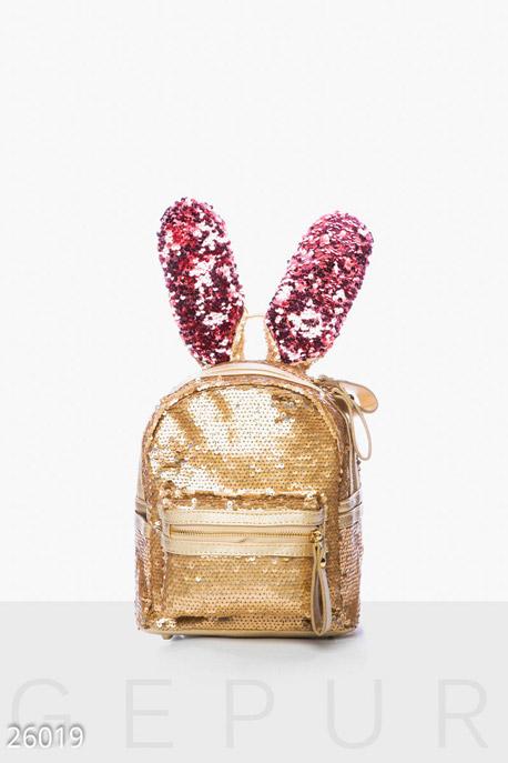 Купить Сумки, клатчи, кошельки / Рюкзаки, Рюкзак с пайетками, Рюкзак-26019, GEPUR, золотисто-розовый