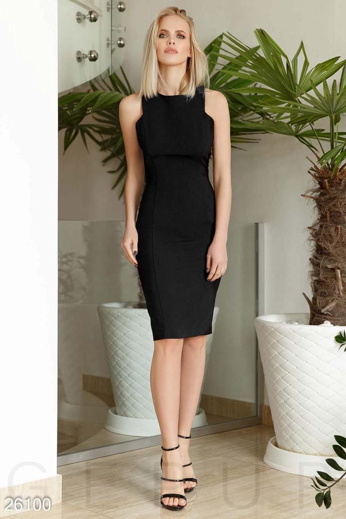 Купить Платья / Миди, Монохромное платье-футляр, Платье-26100, GEPUR, черный