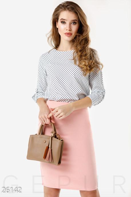 Купить Свитера / Блузы, рубашки, Легкая двухцветная блуза, Блуза-26142, GEPUR, бело-синий