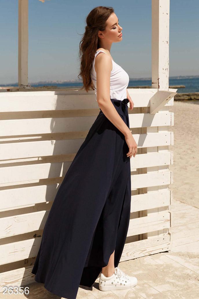 Купить Юбки / В пол, Летняя юбка-макси, Юбка-26356, GEPUR, темно-синий
