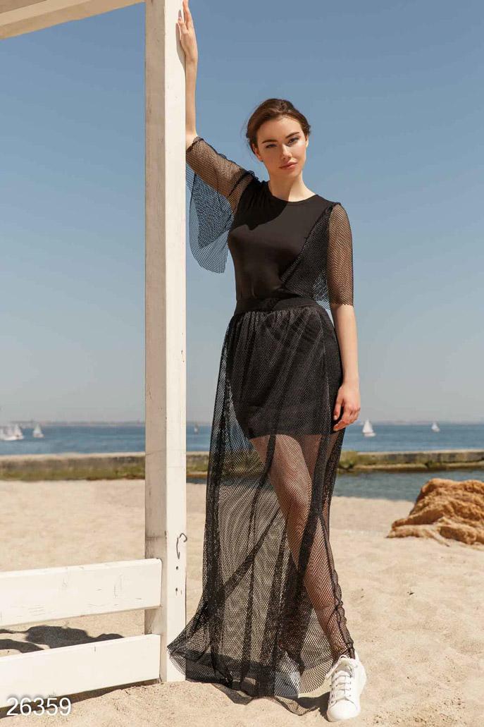Купить Костюмы и комплекты / Большие размеры, Прозрачный летний костюм, Костюм-26359, GEPUR, черный