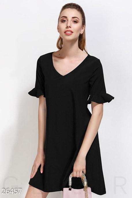 Купить Платья / Мини, Монохромное платье-клеш, Платье-26457, GEPUR, черный