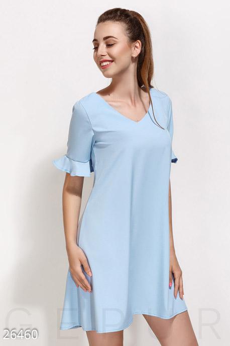 Купить Платья / Мини, Монохромное платье-клеш, Платье-26460, GEPUR, нежно-голубой