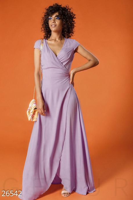 Купить Платья / Макси, Длинное платье-халат, Платье-26542, GEPUR, светло-сиреневый