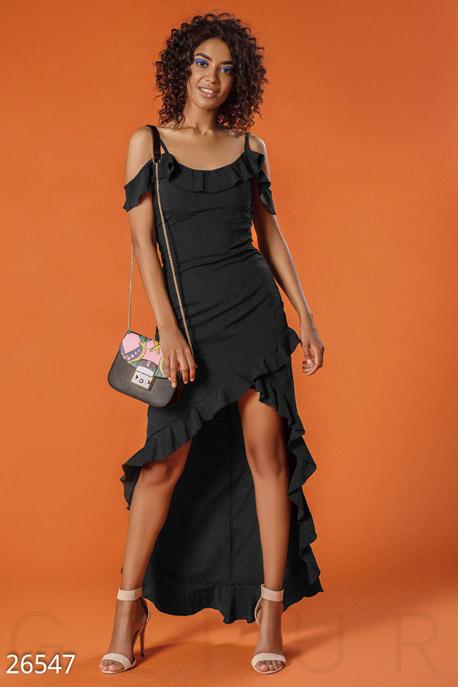 Купить Платья / Большие размеры, Сарафан с оборками, Сарафан-26547, GEPUR, черный