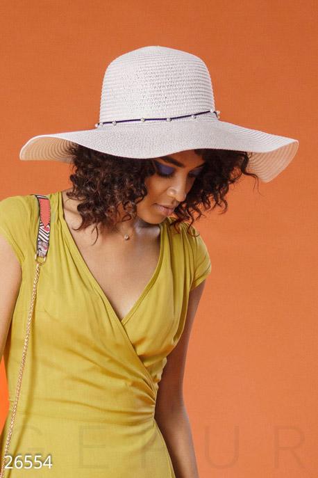 Перчатки, шарфы, шапки / Шляпки, Женская соломенная шляпа, Шляпа-26554, GEPUR, белый  - купить со скидкой