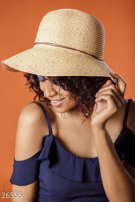 Купить Перчатки, шарфы, шапки / Шляпки, Соломенная шляпа-слауч, Шляпа-26555, GEPUR, бежевый