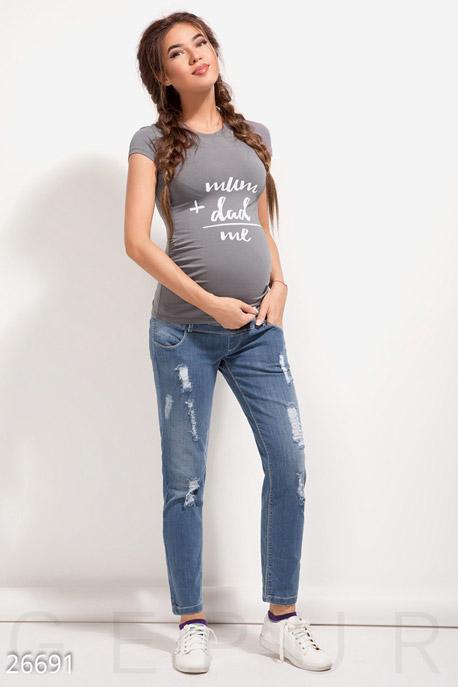 Купить Одежда для беременных / Брюки леггинсы, Джинсы для беременной, Джинсы-26691, GEPUR, синий