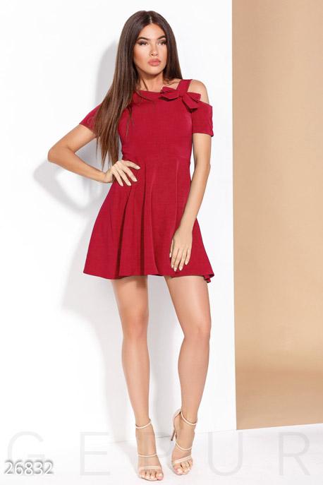 Купить Платья / Мини, Платье с бантом, Платье-26832, GEPUR, ярко-красный