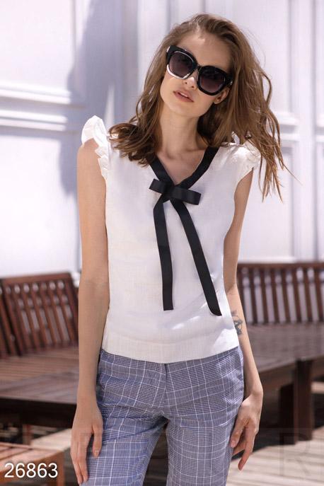 Купить Блузы, рубашки, Лёгкая летняя блуза, Блуза-26863, GEPUR, молочный