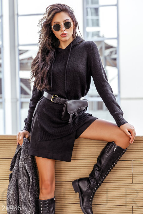 Купить Свитера / Худи и батники, Мягкое женское худи, Худи-26936, GEPUR, черный