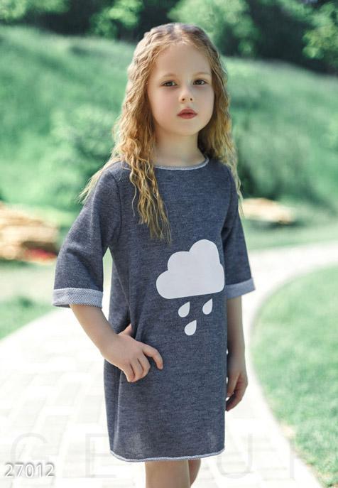 Детская одежда, Туника с накатом, Туника-27012, GEPUR, темно-синий  - купить со скидкой