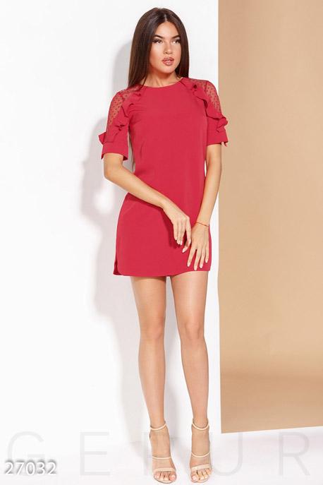 Купить Платья / Мини, Повседневное платье-мини, Платье-27032, GEPUR, ярко-красный
