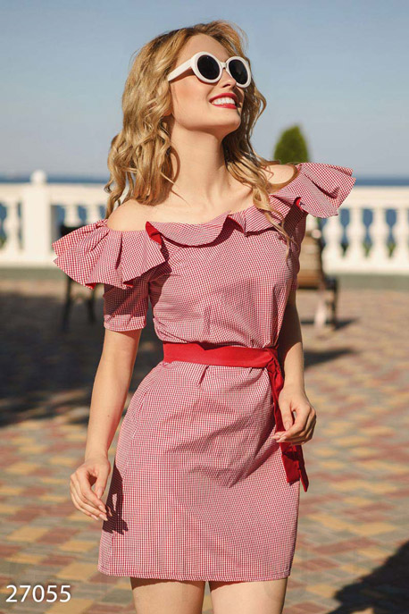 Платье с рюшами GEPUR
